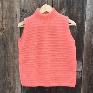 VTG Mock Turtleneck Sleeveless Knit Top